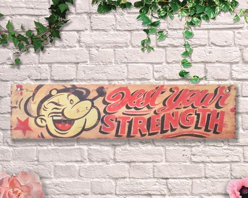 Painted Test Your Strength 80cm Circus Sign